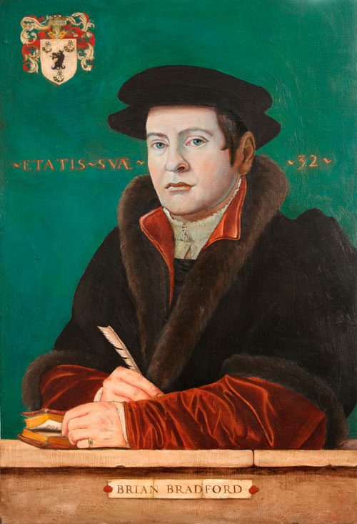 Tudor style oil portrait of a young man