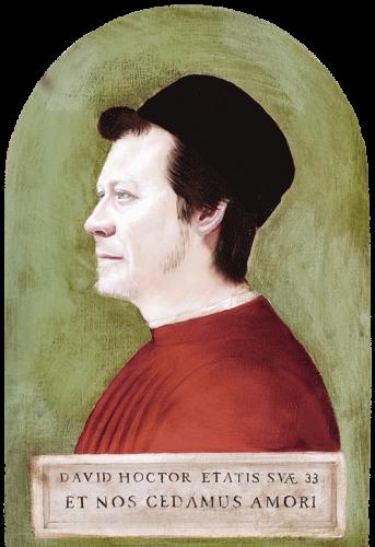Renaissance style portrait diptych Dave