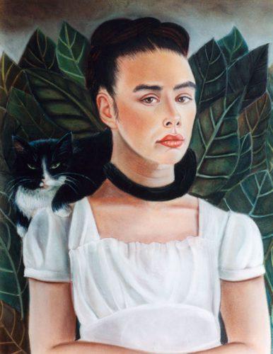 Frida Kahlo style portrait in pastel