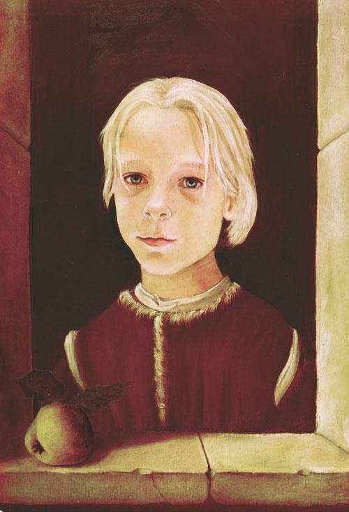Flemish style oil portrait of a young boy