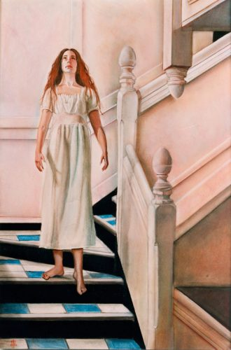 Pink Staircase in pastel
