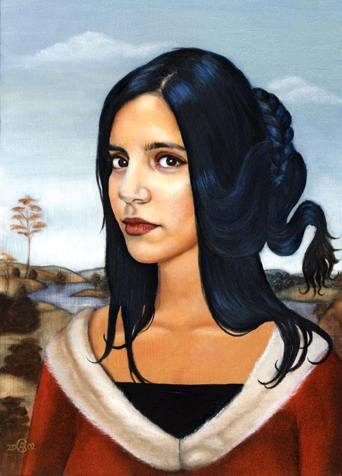 Renaissance style oil portrait Raithe
