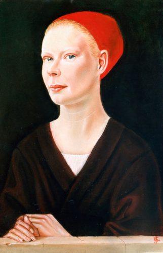 Flemish style portrait of Rhian in pastel