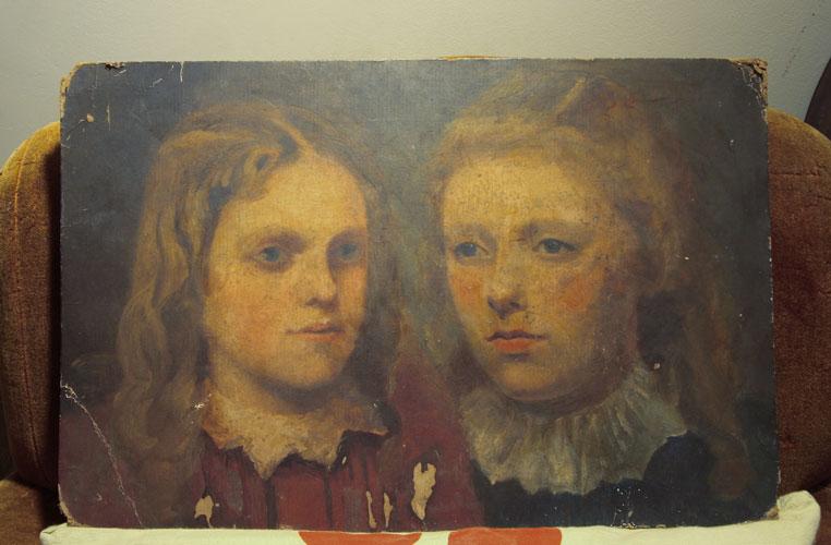 Victorian portrait of two children