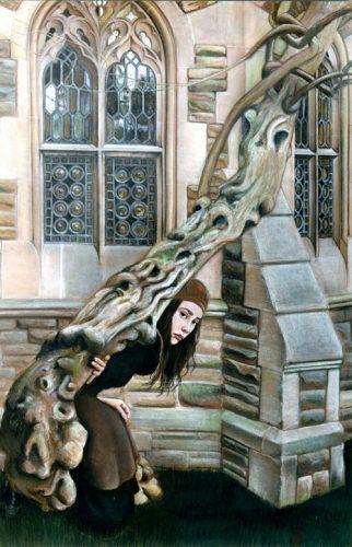 Insole Court wisteria self-portrait