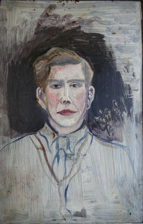 Naive portrait of a man