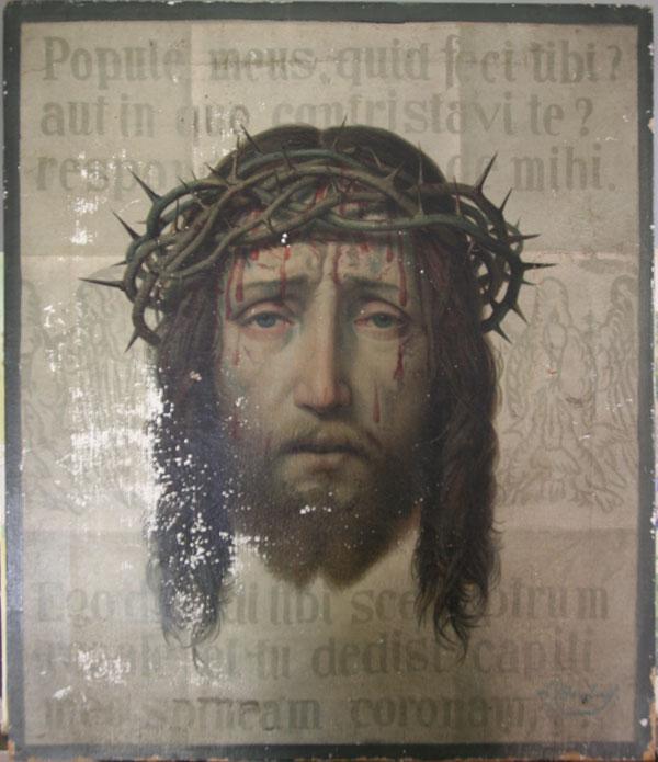 Vera Icon oleograph of Christ