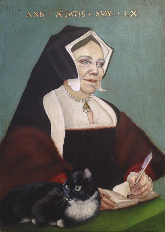 Tudor style oil portrait