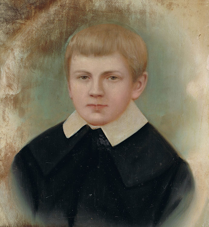 Portrait of an Edwardian boy
