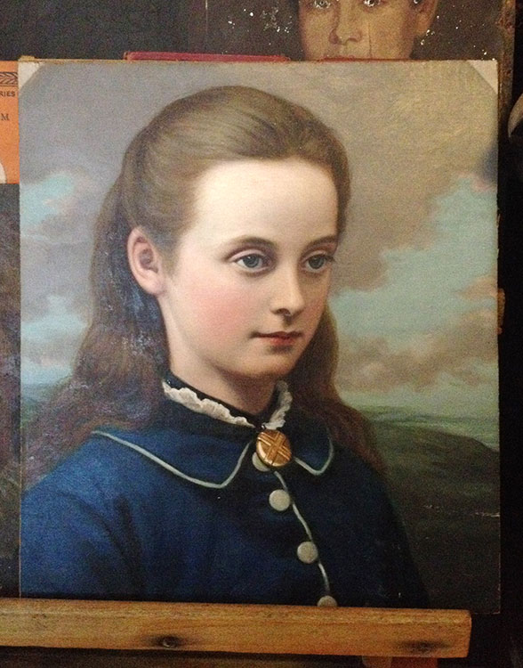 Painting of a Victorian girl