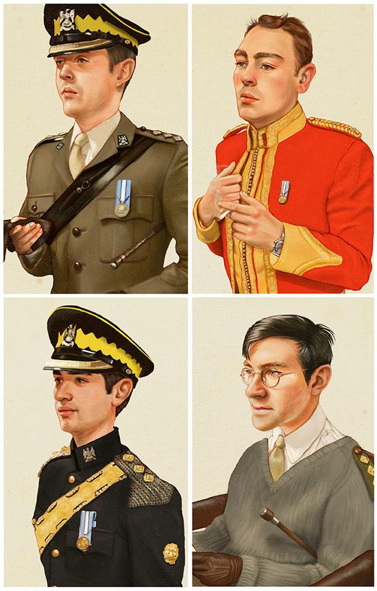 Vanity Fair style portrait illustration