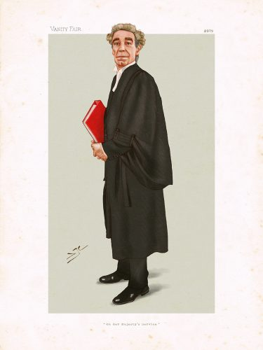 Vanity Fair style portrait illustration