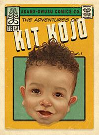 Child illustration comic book cover