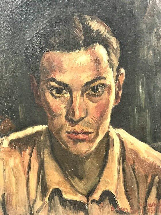 Portrait of a man by Akos Biro