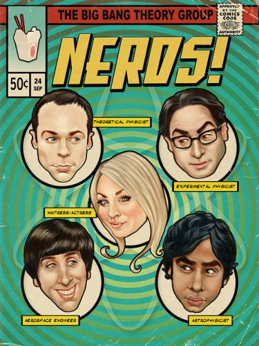 The Big Bang Theory Comic Book cover illustration