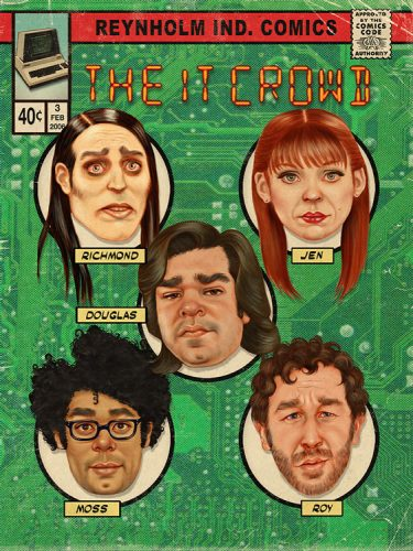The IT Crowd Comic book Cover