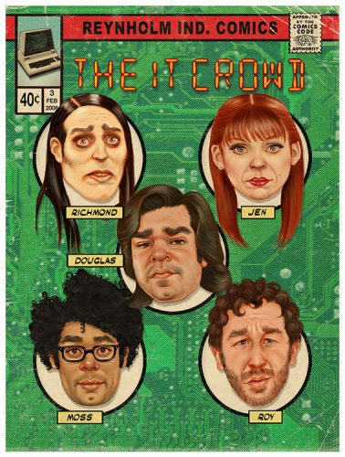 The IT Crowd comic book cover print
