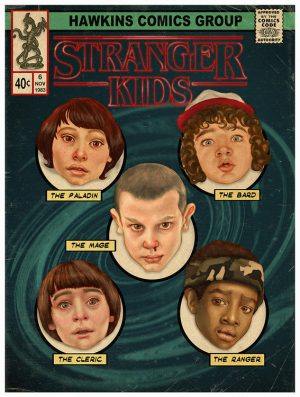 Stranger Things comic book Stranger Kids print