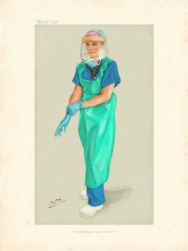 A Thirteen Hour Shift | Vanity Fair style portrait